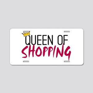 'Queen of Shopping' Aluminum License Plate
