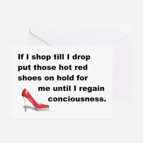 Shop Till I Drop Greeting Card