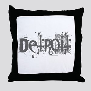 DETROIT CS Throw Pillow