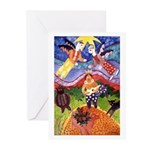 Dos angeles Greeting Cards (Pk of 10)