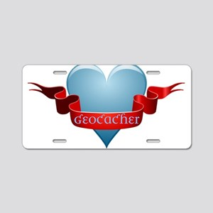 Geocacher Ribbon Aluminum License Plate