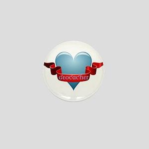 Geocacher Ribbon Mini Button