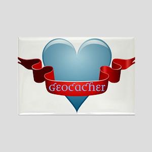 Geocacher Ribbon Rectangle Magnet