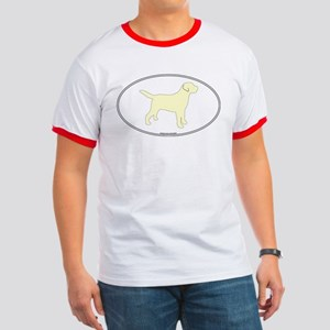 Yellow Lab Outline Ringer T