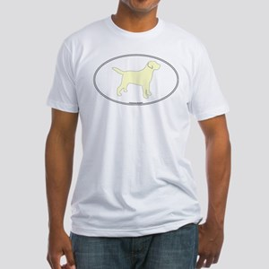 Yellow Lab Outline Fitted T-Shirt