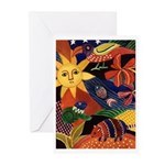 El sol y el armadillo Greeting Cards (Pk of 10)