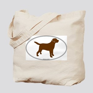 Chocolate Lab Outline Tote Bag