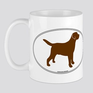 Chocolate Lab Outline Mug