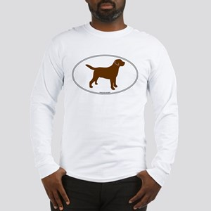 Chocolate Lab Outline Long Sleeve T-Shirt