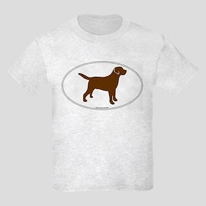 Chocolate Lab Outline Kids T-Shirt