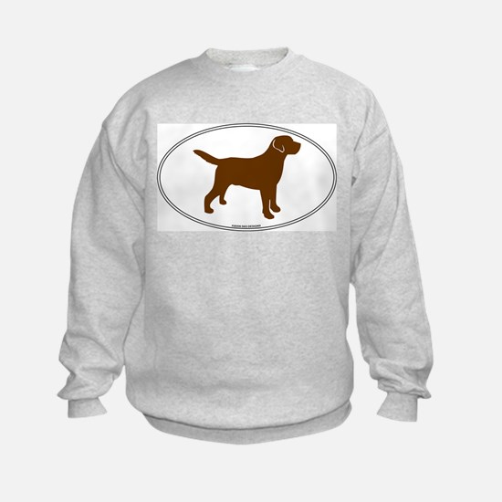 Chocolate Lab Outline Sweatshirt