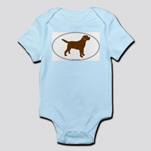 Chocolate Lab Outline Infant Creeper