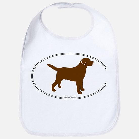 Chocolate Lab Outline Bib