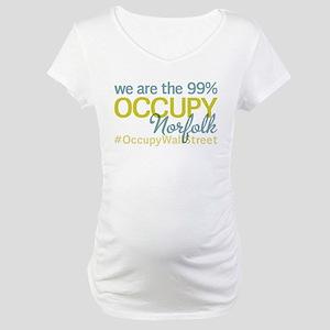 Occupy Norfolk Maternity T-Shirt