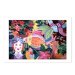 Pez y flores Postcards (Package of 8)