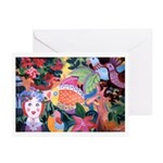 Pez y flores Greeting Cards (Pk of 10)