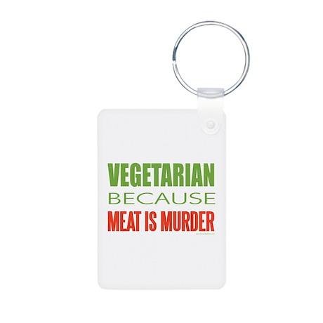 Vegetarian Aluminum Photo Keychain