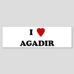 I Love Agadir Bumper Sticker
