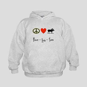 Peace - Love - Sam Kids Hoodie