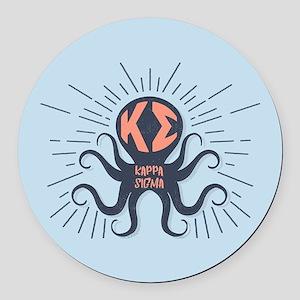 Kappa Sigma Octopus Round Car Magnet
