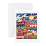 Sunny Village Greeting Cards (Pk of 10)