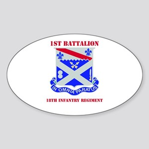DUI - 1st Bn - 18th Infantry Regt with Text Sticke