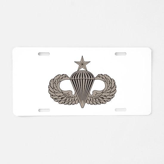 Sr. Parachutist Aluminum License Plate