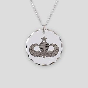Sr. Parachutist Necklace Circle Charm