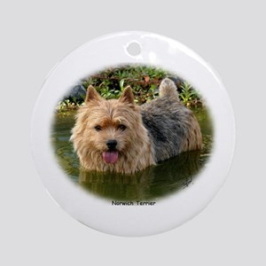 Norwich Terrier 9Y235D-087 Ornament (Round)