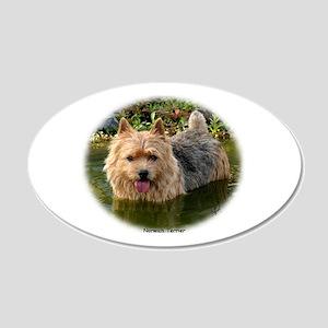 Norwich Terrier 9Y235D-087 22x14 Oval Wall Peel