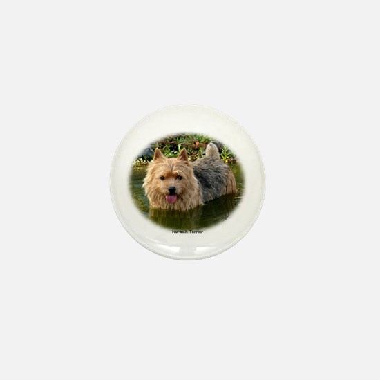 Norwich Terrier 9Y235D-087 Mini Button