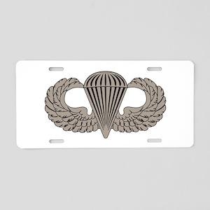 Parachutist Aluminum License Plate