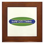 Surf City Twins Framed Tile