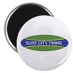Surf City Twins Magnet