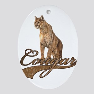 Cougar Ornament (Oval)