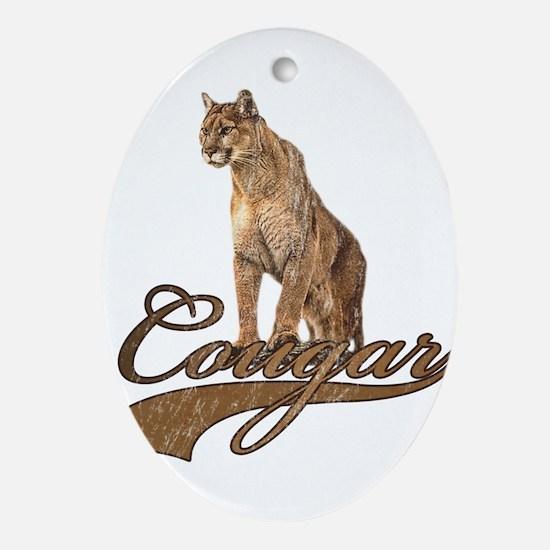 Cougar Ornament (Oval)