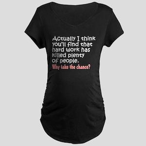 'Lazy' Maternity Dark T-Shirt