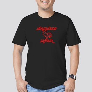 Ask Me About My... Men's Fitted T-Shirt (dark)