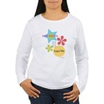 A Hip Hapa In A Women's Long Sleeve T-Shirt