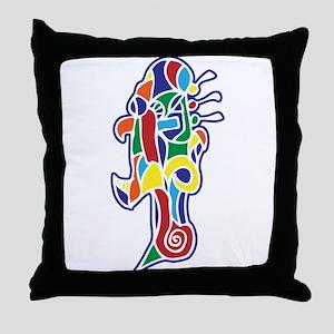 Angry Robot Throw Pillow