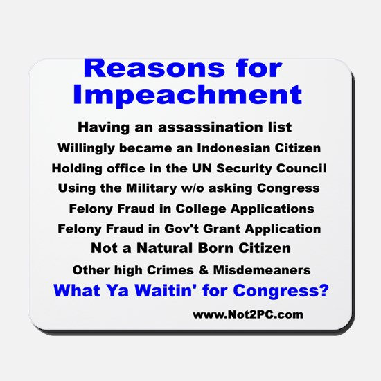 impeachment Mousepad