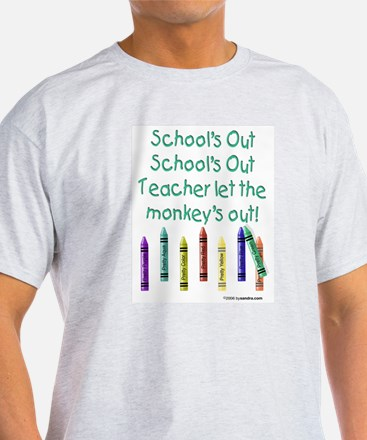 School's Out! Ash Grey T-Shirt