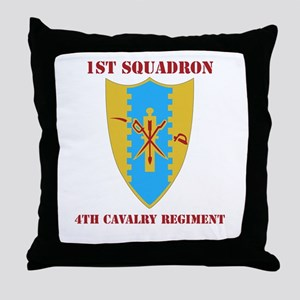 DUI - 1st Sqdrn - 4th Cavalry Regt with Text Throw