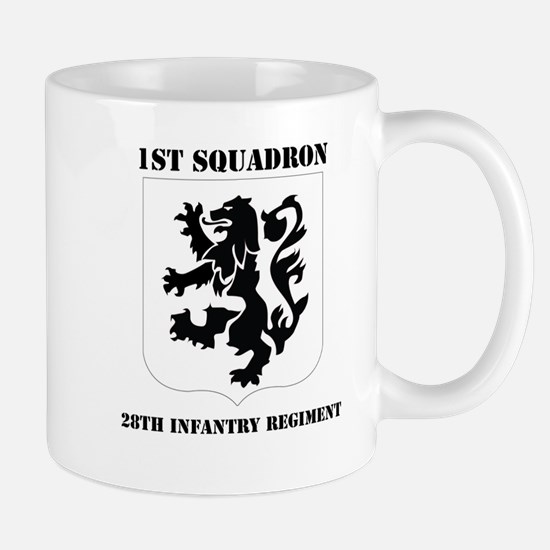 DUI - 1st Bn - 28th Infantry Regt with Text Mug