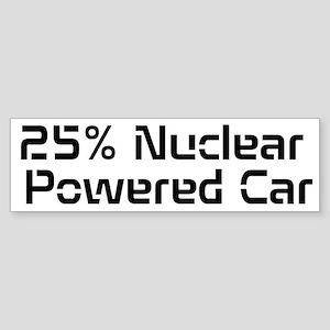 Nuclear Powered Car Sticker (Bumper)