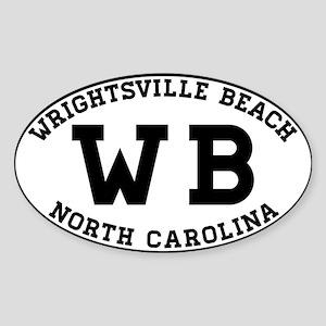 WRIGHTSVILLE BEACH NORTH CAROLINA EURO OVA Sticker