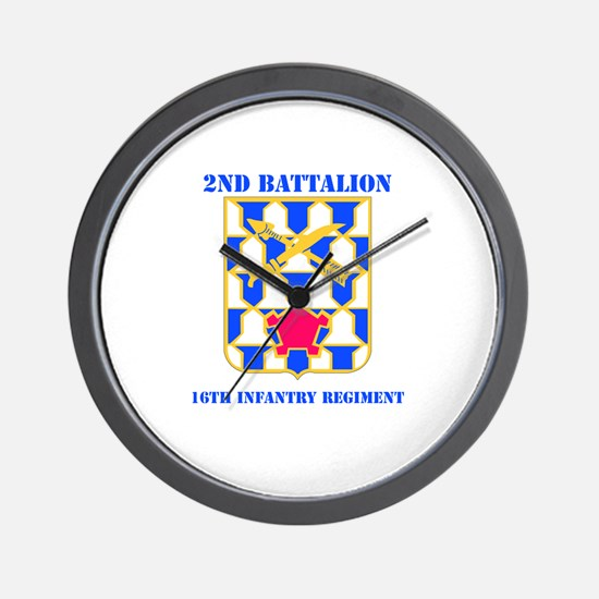 DUI - 2nd Bn - 16th Infantry Regt with Text Wall C
