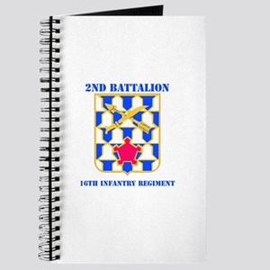 DUI - 2nd Bn - 16th Infantry Regt with Text Journa
