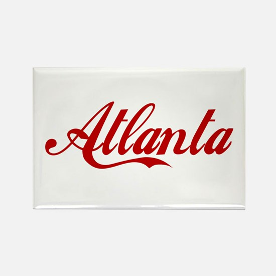 ATLANTA SCRIPT Rectangle Magnet