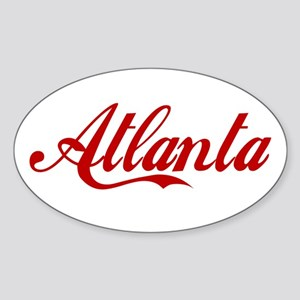ATLANTA SCRIPT Oval Sticker